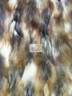 Faux Fake Fur Animal Short Pile Coat Costume Fabric / Wolverine / Sold By The Yard