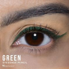 Limited Edition Green EyeSense Eyeliner Pencil by SeneGence is waterproof and will not smudge or budge.  No need for a sharpener - just twist from the bottom when you need a little more.  Comes in four permanent colors : gold shimmer, black, black brown and navy.  This matte deep purple will amp up your look.  Click here to purchase yours.  #senegence #eyesense #eyeliner #waterproof