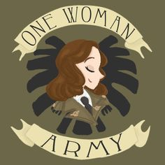 An Army of Her Own || Peggy Carter || by shelbywolf || WeLoveFine Agent Carter T-Shirt Contest || #fanart