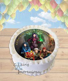 Disney Descendants Edible Image Cake Topper [ROUND]
