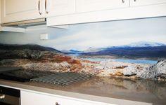Galleri | Glamitec AS - Digitaltrykk på glass Flat Screen, Glass, Kitchen, Blood Plasma, Cooking, Drinkware, Corning Glass, Kitchens, Flatscreen