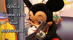 Which characters at Walt Disney World don't sign autographs