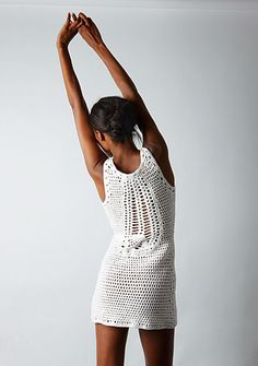 crochet dress.  Love the back of this