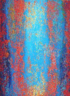 """Saatchi Art Artist Heidi Thompson; Painting, """"Cerulean Blue Field"""" #art"""