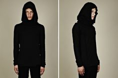 Cool hooded scarf by my new favourite fashion designer Thom Krom via Selectism