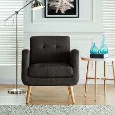 Kenneth Mid Century Modern Arm Chair Caribbean Blue