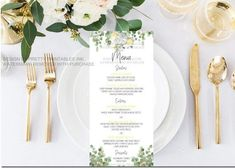 Printable baby shower menu - Our printable baby shower menu card is an elegant way to share your menu with your guests. We customize, you print! Also available in blue and pink versions, too. Customized elephant baby shower menu card for a baby shower, baby shower brunch, safari baby shower, elephant baby shower or gender neutral baby shower luncheon menu Bridal Shower Brunch Menu, Baby Shower Menu, Baby Shower Brunch, Baby Showers, Printable Menu, Printable Invitations, Baby Shower Printables, Party Printables, Menu Cards