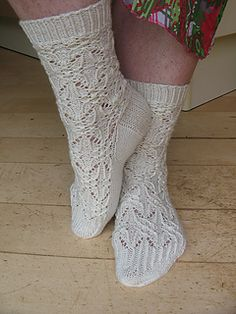 These socks were designed for me, size 39. This pattern is moderate to difficult.