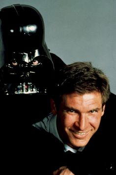 Oh Harrison....(And Vader looks even creepier with the eyes showing)
