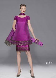 Modelo 3413 de Teresa Ripoll | vestido para fiesta o madrina en color púrpura | colección primavera-verano 2014-2015