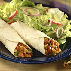 Vegetarian Fajitas Recipe | Nestle Meals.com (Have to make a few changes but seems like a good one :)