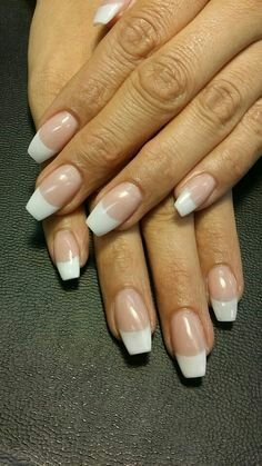 All acrylic coffin / ballerina nails # Nails French nails Nail Art Designs, French Tip Nail Designs, Colorful Nail Designs, Acrylic French Manicure, French Tip Nails, French Acrylics, Color French Manicure, Nail French, Coffin Nails
