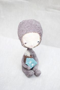 Custom art doll by Ruta Elze of Elze on Etsy