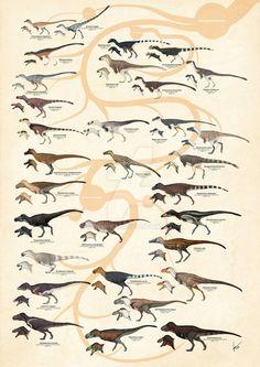 Tyrannosauroid+Dinosaurs+Version+2+by+Kana-hebi.deviantart.com+on+@DeviantArt