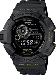 57515243b93 G shock Mudman G9300GY-1 Solar Powered Digital Compass Moon Graph Mud    Shock Resistant. Relógios ...