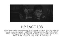 HP facts - Harry's hair. Bummer, would have been cool