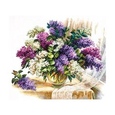 Counted Cross Stitch Kit Scent of lilac Wonderful needle