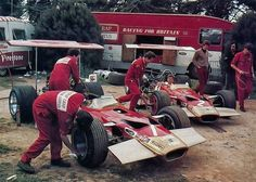 Team Lotus Paddock 1969 1 G Hill - 2 Rindt . . #f1 #formula1 #ferrari #formel1 #vintage #rush #retro #race #team #racing #fastcars #cars…