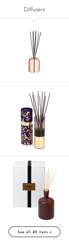 """""""Diffusers"""" by attackontitan ❤ liked on Polyvore featuring home, home decor, home fragrance, fragrance reed diffuser, home scents, reed diffuser, tom dixon, purple, scented reed diffuser and scent bottle Candle Diffuser, Home Scents, Tom Dixon, Business Gifts, Votive Candles, Fragrances, Room Inspiration, Aromatherapy, Packaging Design"""