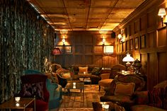 Located in Notting Hill, Electric House is a place for members to relax, eat, drink and meet. Soho House, Library Bar, Electric House, Bars And Clubs, Home Libraries, Bar Areas, Reading Room, Wood Paneling, Panelling
