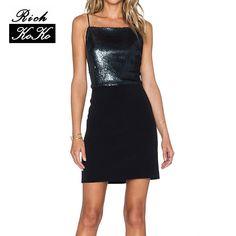 Richkoko Sexy Black Sequin Backless Dress  #fashion #redbeancollection #man #dress #women