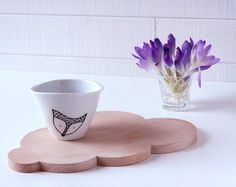 Fox mini bowl  Porcelain thimble cup with a Fox by LesMiniboux, €12.00