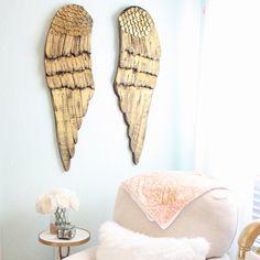 Caden Lane Baby Bedding - Gold Wood Wings (Set of 2), $160.00 (http://cadenlane.com/gold-wood-wings-set-of-2/)