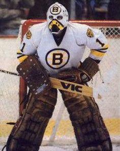 Goalie Mask - Rogie Vachon NHL Boston Bruins Logo Mask