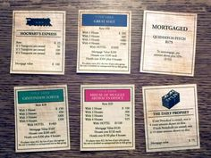 Harry Potter Monopoly — property card samples this would make way more sense to me