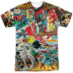 Justice League Classic Collage T-Shirt