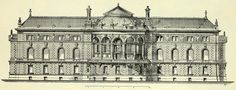 Garden elevation of the palace of the emperor, Strasbourg