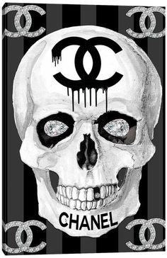 Chanel Wall Art, Canvas Prints & Paintings   iCanvas Skull Artwork, Skull Painting, Canvas Artwork, Canvas Art Prints, Chanel Wall Art, Chanel Decor, Chanel Art, Chanel Canvas, Chanel Wallpapers