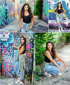 Friend Poses Photography, Teenage Girl Photography, Senior Portrait Photography, Photography Poses Women, Teenager Photography, Graffiti Photography, Best Photo Poses, Girl Photo Poses, Girl Poses