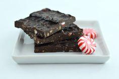 'Tis the season for dark chocolate peppermint bark!