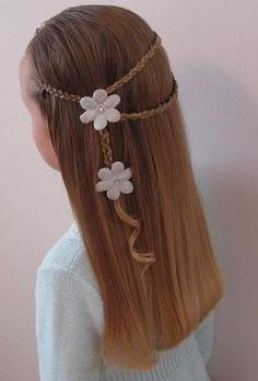 Wrap Around w/Little Braids Hairstyle - Hair - hair Little Girl Braid Hairstyles, Little Girl Braids, Kids Braided Hairstyles, Girls Braids, Pretty Hairstyles, Cute Hairstyles, Teenage Hairstyles, Amazing Hairstyles, Natural Hairstyles