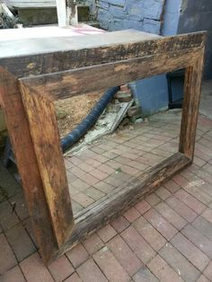 Rustic mirror using recycled timbers