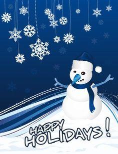 Snowman Greeting Card Icon Set