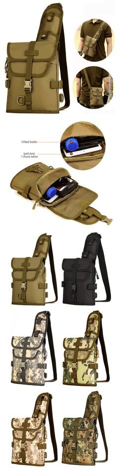 US$19.99 Men Women Outdoor Tactical Shoulder Bag Double Use Sports Hiking Multifunction Bag