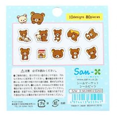 Mini Rilakkuma Stickers