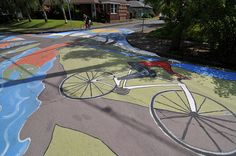 Portland's painted streets