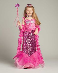 Pink Fairytale Mermaid Costume for Girls