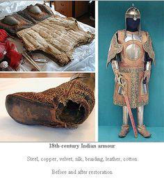 Chilta hazar masha (coat of a thousand nails), kulah khud (helmet), bazu band…
