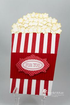 Popcorn pull-out card (can use my flowerpot card template) [North Shore Stamper]