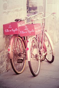 lovely pink bicycles