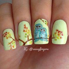 Cute owl nails! :)