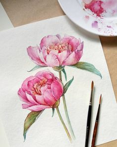 Picturesque peonies bead embroidery on natural art canvas depicting peonies
