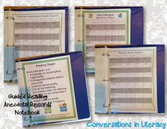 Guided Reading Anecdotal Records Notebook- keeping organized notes to help you plan more effectively and efficiently for small group reading