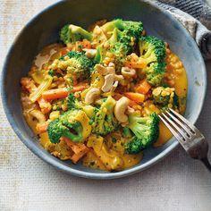 Curry de brocoli aux lentilles rouges | Recettes Saines | Weight Watchers