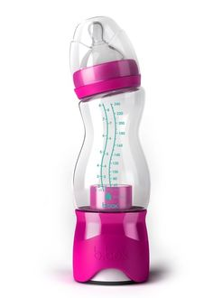 Where was this when I had my babies?! I am pinning this for any of my pregnant peeps. This is perfect for the middle of the night feedings! B.Box Essential Baby Bottle in Pink - Put the formula in the bottom and water in the top. Simply twist the bottom to release the formula when your ready to use it! Would be the coolest Gift!
