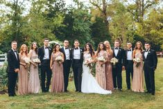 Me & Mr. Jones Wedding, Black Tie Wedding, Bridesmaids wearing Adrianna Papell Beaded Dresses, Embellished Bridesmaids Dresses, Black Tie Wedding in Nashville, Wedding Party Photo, Brides Dress @watterswtoo, Groosmen Suits from @macys, Bridesmaids Dresses from @adriannapapell